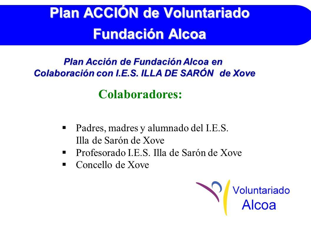 Plan ACCIÓN de Voluntariado Fundación Alcoa Colaboradores: Padres, madres y alumnado del I.E.S.