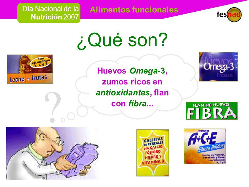 Alimentos funcionales Día Nacional de la Nutrición 2007 ¿Qué son.