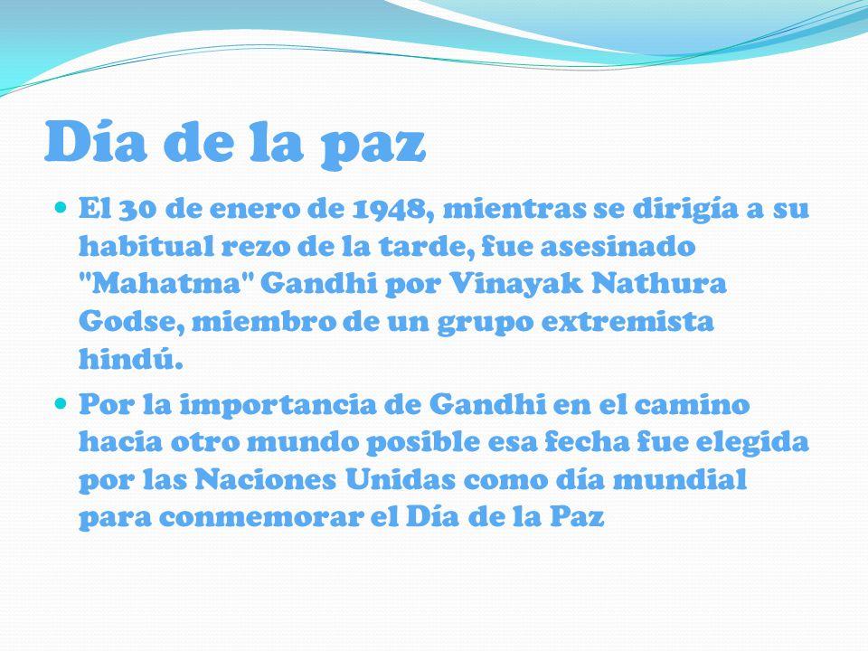 El Día Internaciona l de la Paz fue establecido en 1981 por Naciones Unidas como una celebración anual de no violencia y cesación del fuego a nivel mundial.