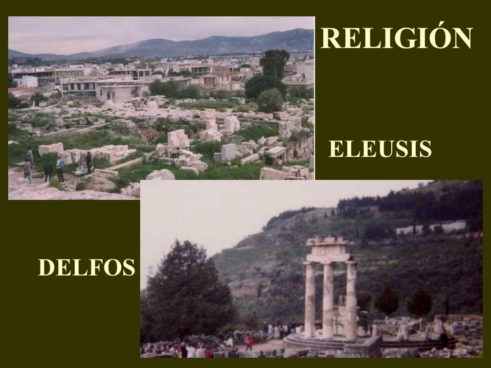 DELFOS ELEUSIS RELIGIÓN