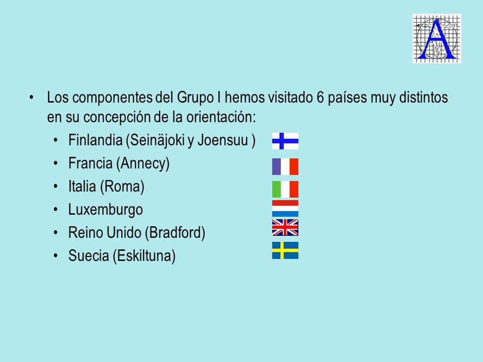 Los componentes del Grupo I hemos visitado 6 países muy distintos en su concepción de la orientación: Finlandia (Seinäjoki y Joensuu ) Francia (Annecy