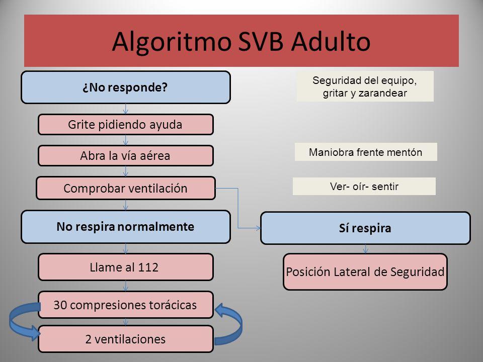 Algoritmo SVB Adulto ¿No responde.