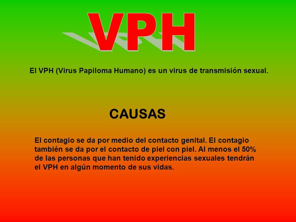 El VPH (Virus Papiloma Humano) es un virus de transmisión sexual.