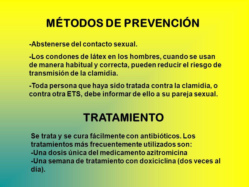 MÉTODOS DE PREVENCIÓN -Abstenerse del contacto sexual.