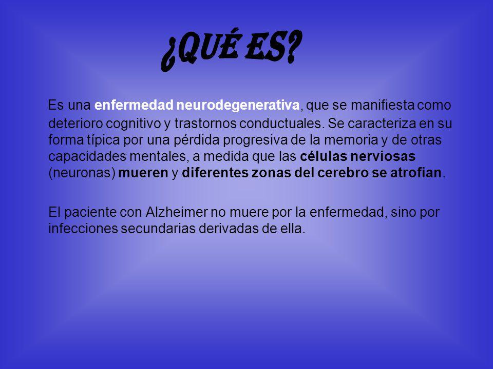 Es una enfermedad neurodegenerativa, que se manifiesta como deterioro cognitivo y trastornos conductuales. Se caracteriza en su forma típica por una p