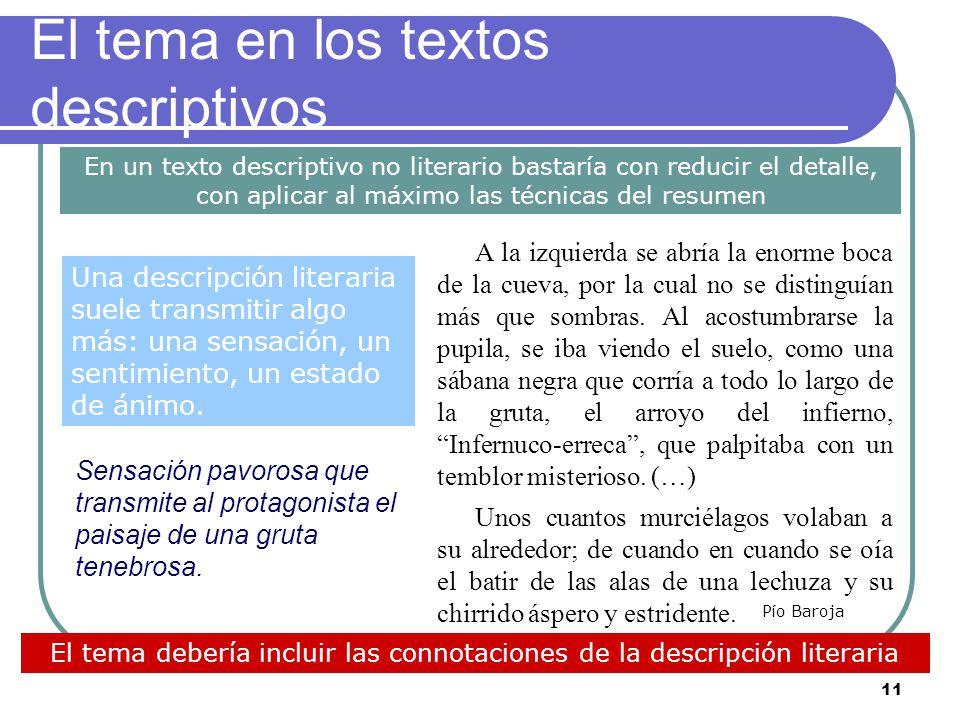 10 El tema en los textos narrativos (2) Pero, con frecuencia, el texto narrativo seleccionado manifiesta un mensaje o una enseñanza que deben ser reco