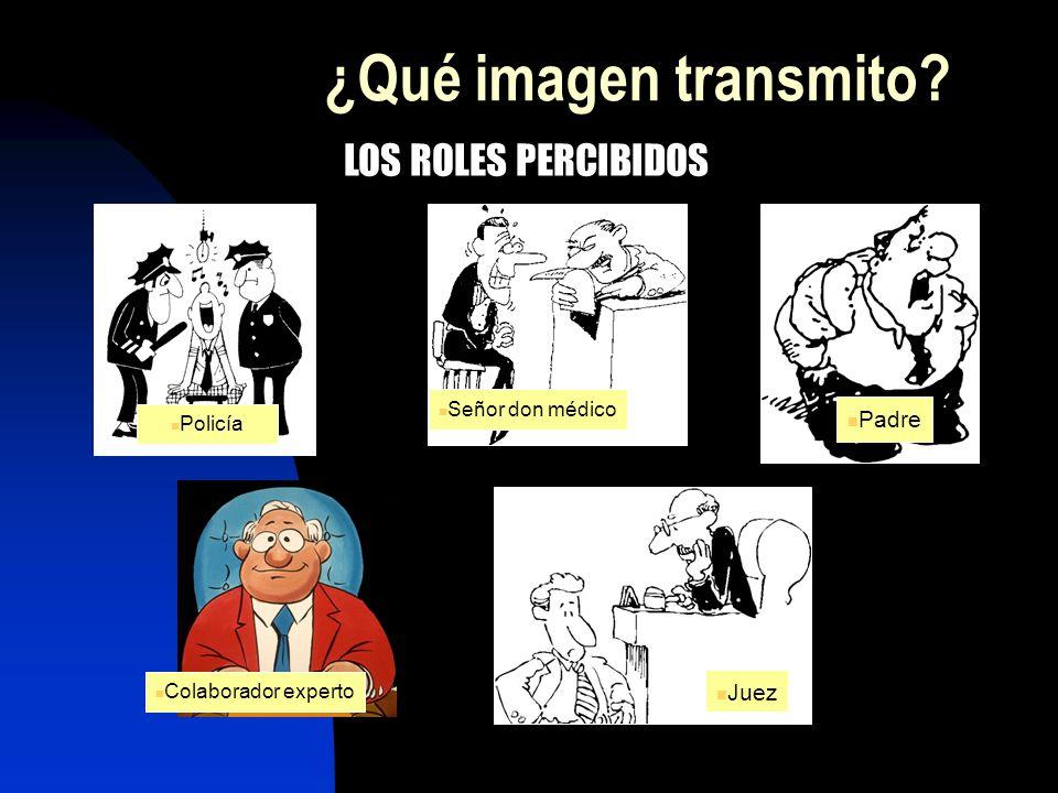 ¿Qué imagen transmito? Policía Juez Señor don médico Padre Colaborador experto LOS ROLES PERCIBIDOS