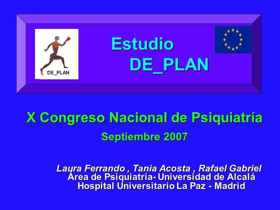 X Congreso Nacional de Psiquiatría Septiembre 2007 Laura Ferrando, Tania Acosta, Rafael Gabriel Área de Psiquiatría- Universidad de Alcalá Área de Psi