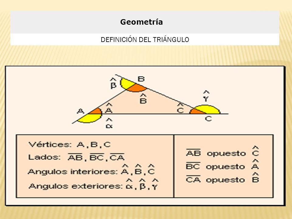 Geometría DEFINICIÓN DEL TRIÁNGULO