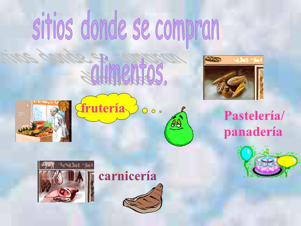frutería carnicería Pastelería/ panadería