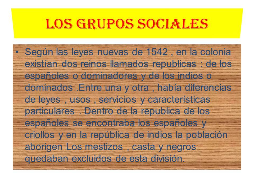 La República de los Españoles a.La nobleza.- era dependiente y se hallaba integrada por peninsulares y criollos con títulos que lo acreditaban.