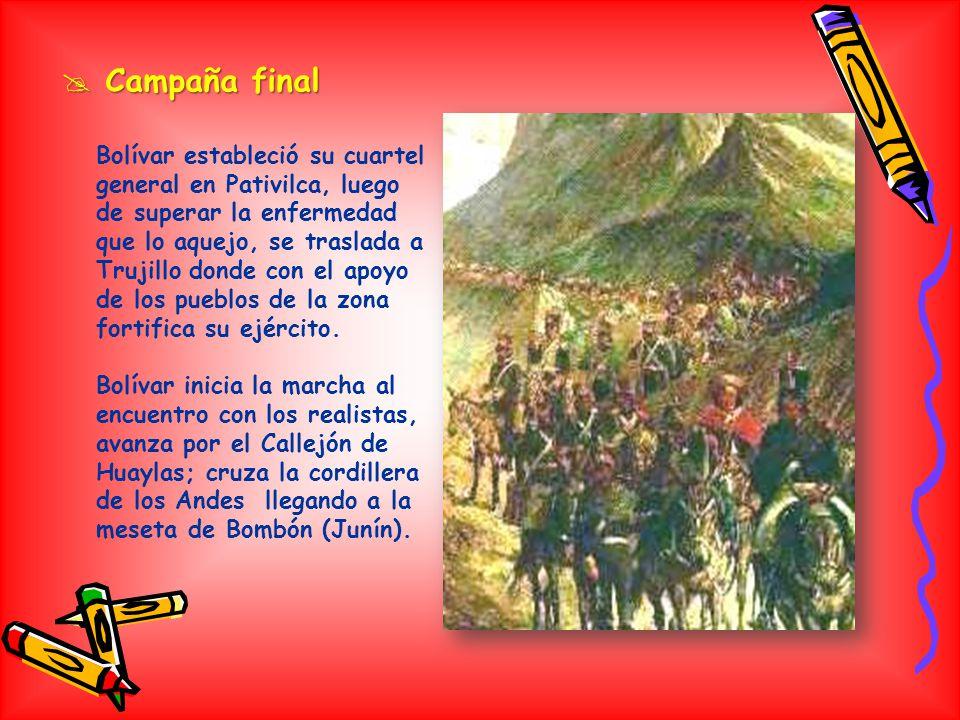 EXPEDICION LIBERTADORA DEL NORTE Estaba conformada por venezolanos y colombianos, bajo el mando del libertador Simón Bolivar. Vino al Perú a pedido de
