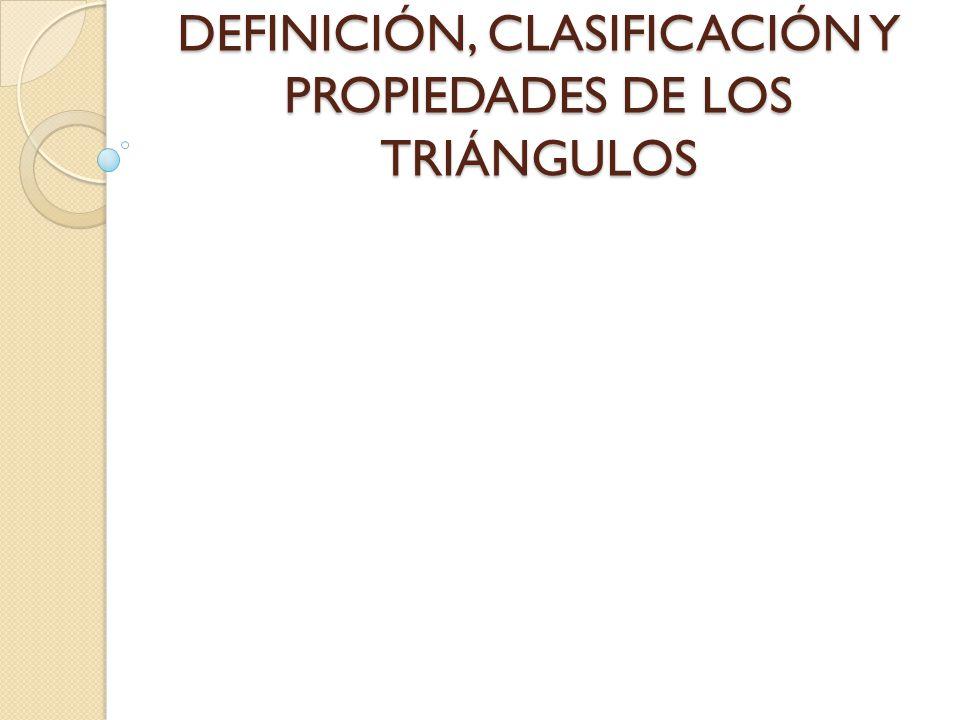 Propiedades de los Triángulos.- Propiedad 1: Un triángulo tiene tres ángulos, cumpliéndose siempre que: La suma de los tres ángulos de un triángulo es 180 grados .