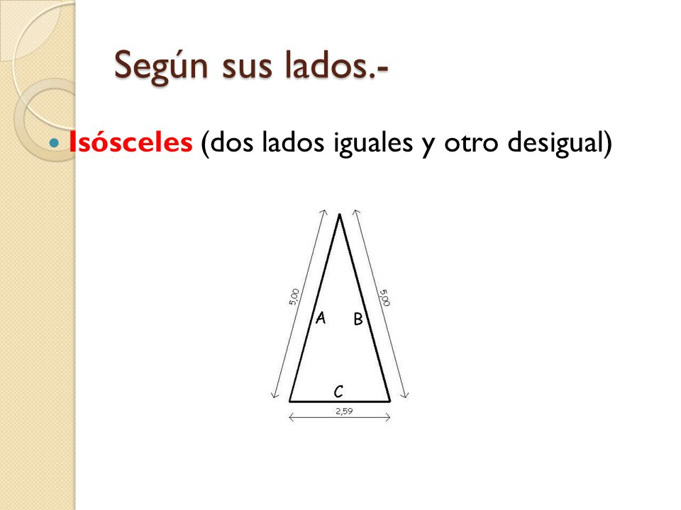 Según sus lados.- Equilátero (los tres lados iguales)