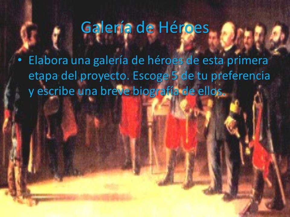 Galería de Héroes Elabora una galería de héroes de esta primera etapa del proyecto.