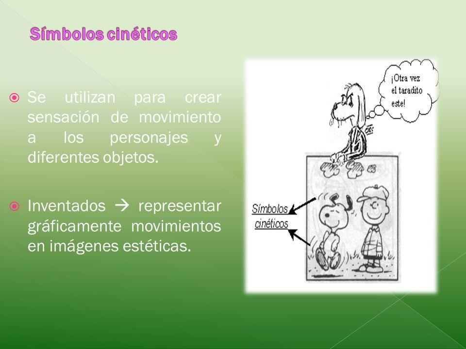 Se utilizan para crear sensación de movimiento a los personajes y diferentes objetos. Inventados representar gráficamente movimientos en imágenes esté