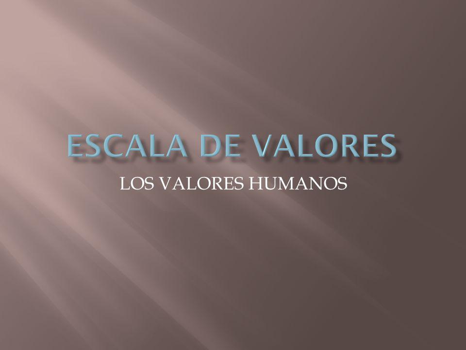 LOS VALORES HUMANOS