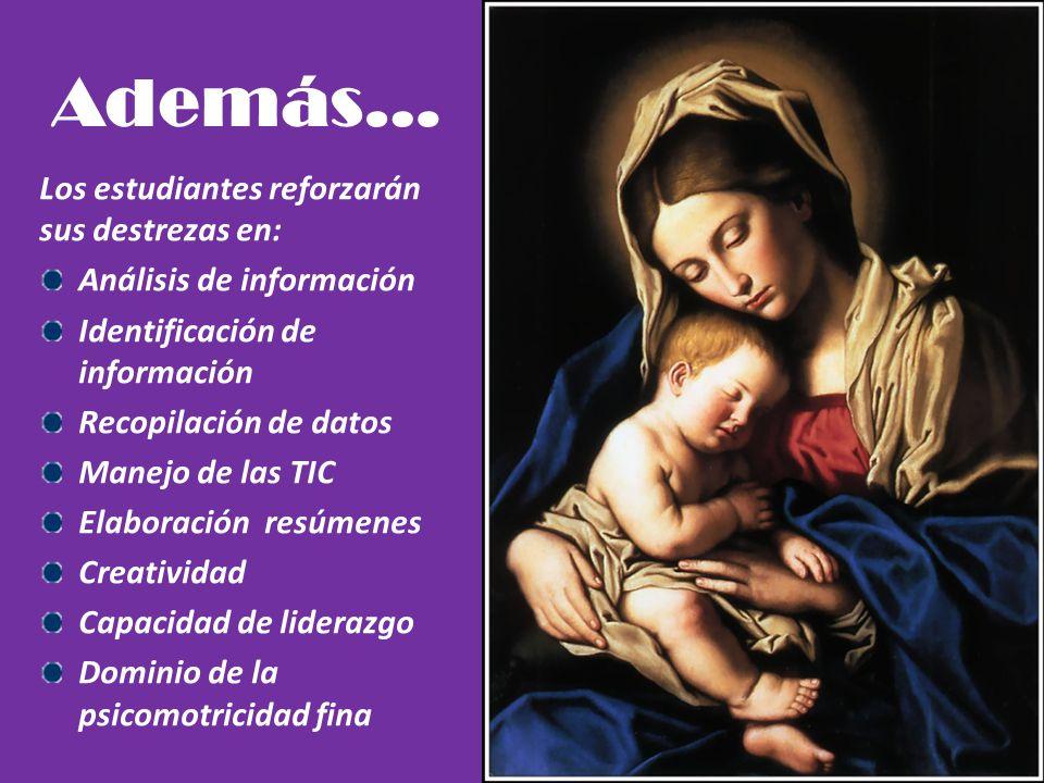 Beneficios de la utilización y aplicación del proyecto Identificarán en la historia de la Iglesia a María como discípula y misionera de Jesús. Expondr
