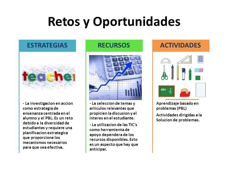 Retos y Oportunidades - La investigacion en accion como estrategia de ensenanza centrada en el alumno y el PBL.
