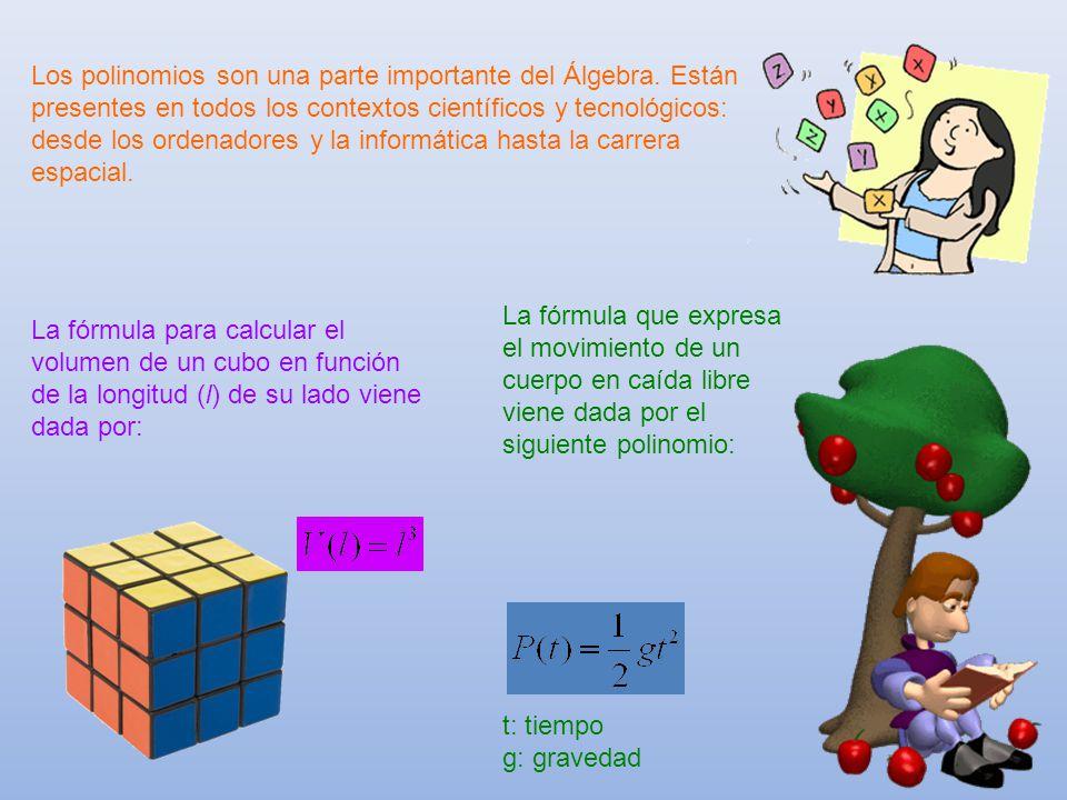 Los polinomios son una parte importante del Álgebra. Están presentes en todos los contextos científicos y tecnológicos: desde los ordenadores y la inf