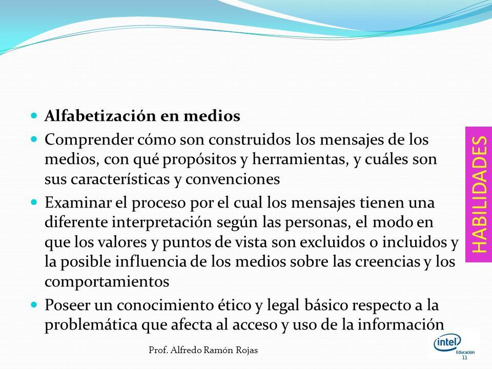 Alfabetización informacional Acceder a la información de manera eficiente y efectiva, evaluándola con actitud crítica y competente, utilizándola con p