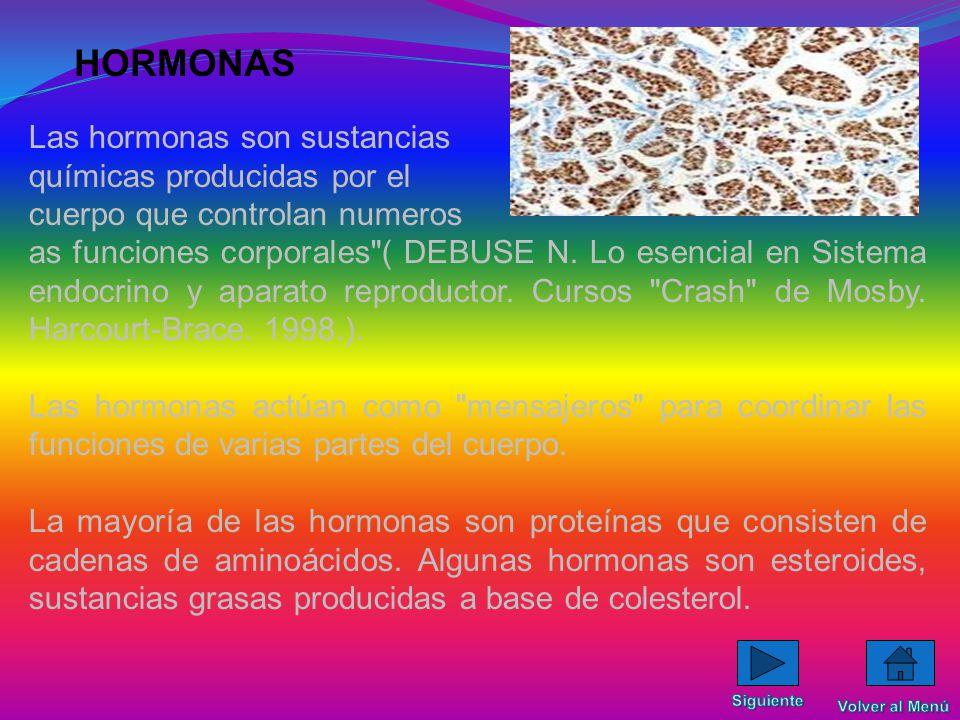 TIPOS DE GLÁNDULAS Las glándulas endocrinas formado por glándulas que producen mensajeros químicos llamados hormonas. Las glándulas exocrinas Las glán