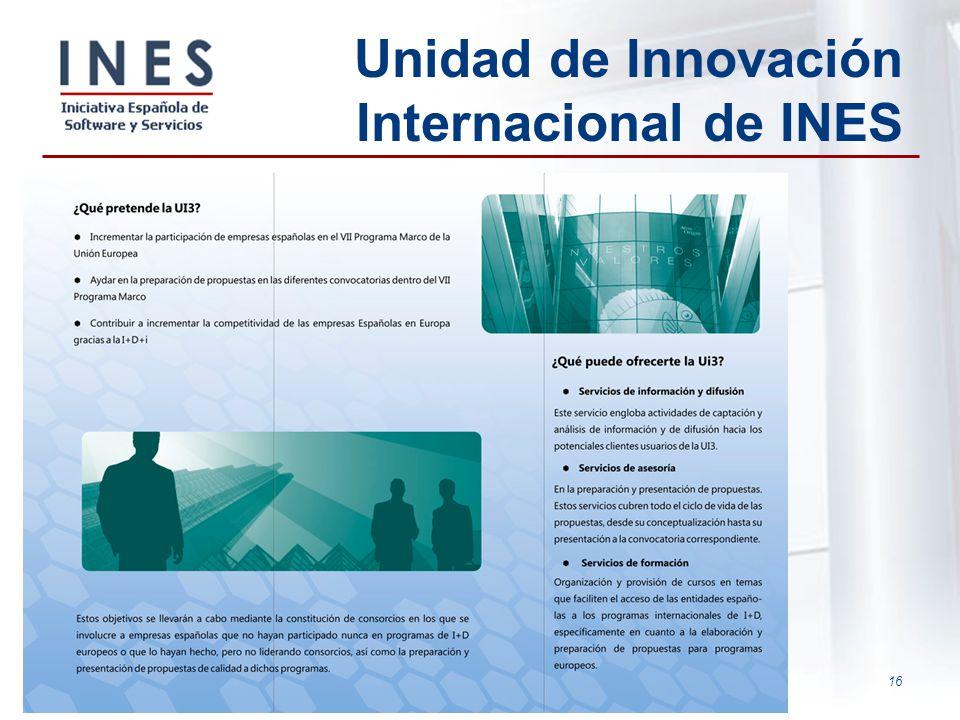 16 Unidad de Innovación Internacional de INES