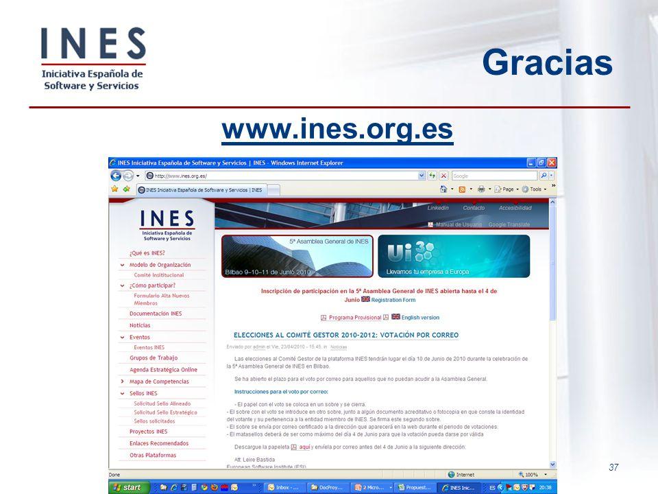 37 Gracias www.ines.org.es