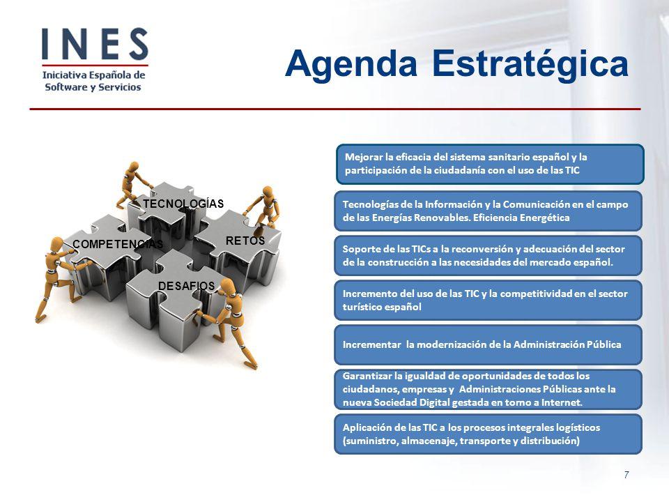 7 Agenda Estratégica Tecnologías de la Información y la Comunicación en el campo de las Energías Renovables. Eficiencia Energética Soporte de las TICs