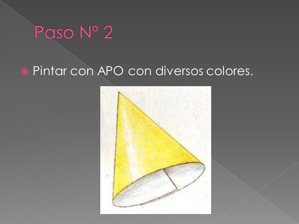 Pintar con APO con diversos colores.
