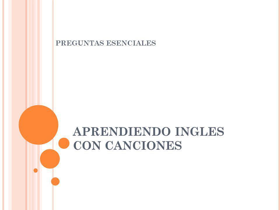 APRENDIENDO INGLES CON CANCIONES PREGUNTAS ESENCIALES