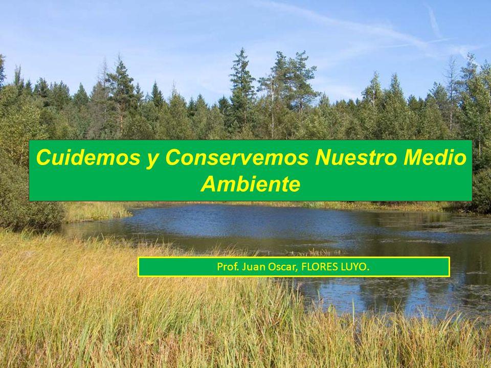 Cuidemos y Conservemos Nuestro Medio Ambiente Prof. Juan Oscar, FLORES LUYO.