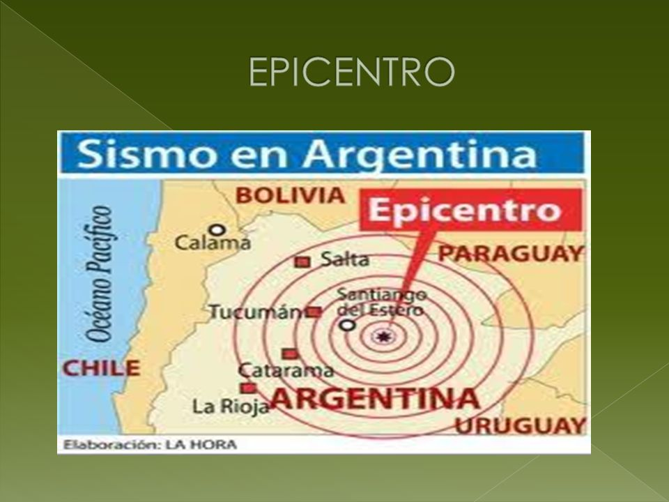 Lugar donde se inicia el movimiento sísmico, es decir, donde se ha producido la ruptura de las rocas que dan origen a los terremotos.