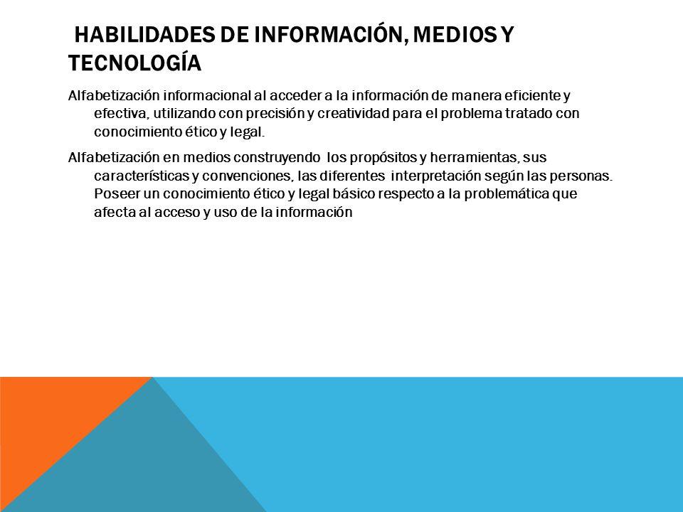 HABILIDADES PARA LA VIDA PERSONAL Y PROFESIONAL Flexibilidad y adaptabilidad Iniciativa y autonomía Habilidades sociales e interculturales Productividad y responsabilidad en la gestión Liderazgo y responsabilidad