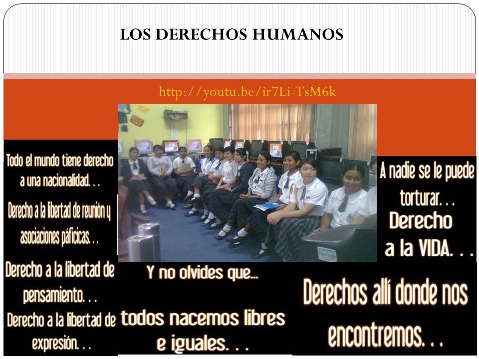 LOS DERECHOS HUMANOS http://youtu.be/ir7Li-TsM6k