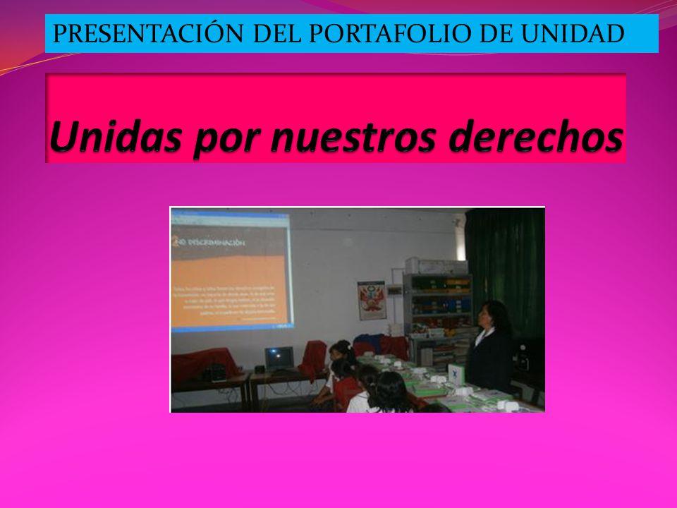 PRESENTACIÓN DEL PORTAFOLIO DE UNIDAD