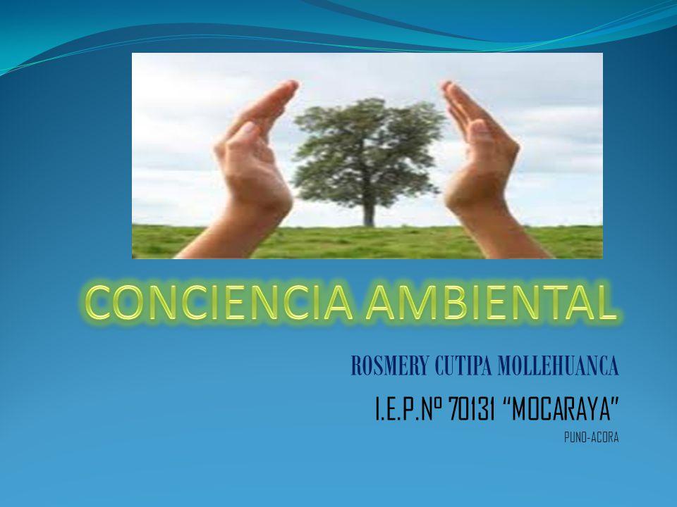 CONCIENCIA AMBIENTAL Significa conocer nuestro entorno para cuidarlo y que nuestros hijos también puedan disfrutarlo.