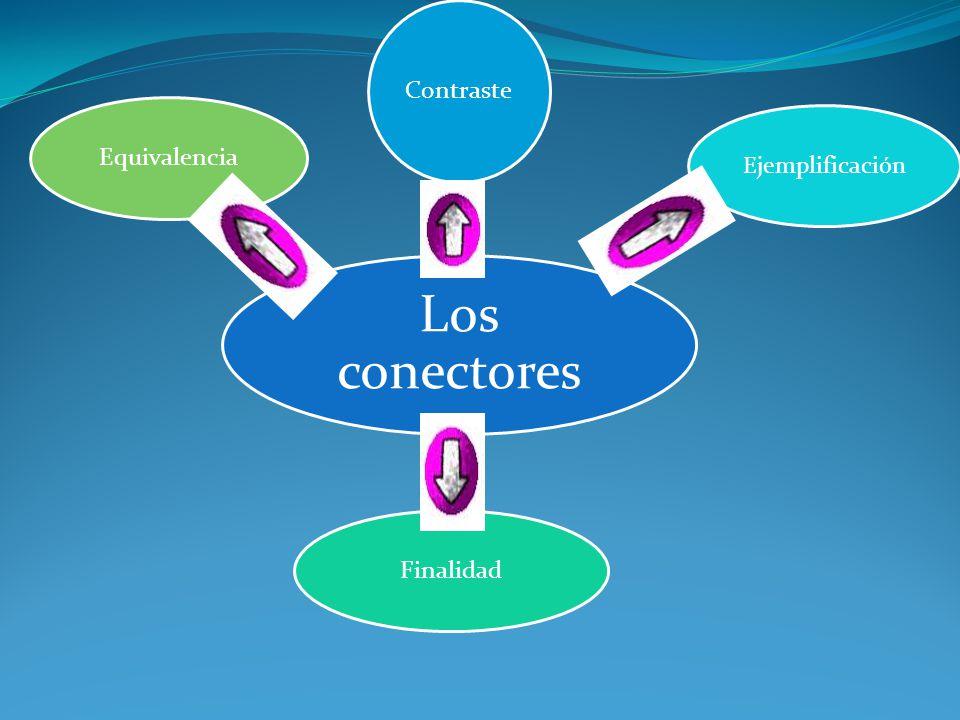Los conectores Contraste Ejemplificación Finalidad Equivalencia