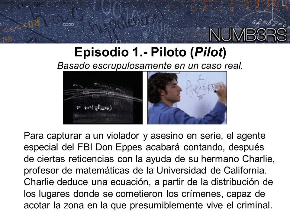 Episodio 1.- Piloto (Pilot) Basado escrupulosamente en un caso real. Para capturar a un violador y asesino en serie, el agente especial del FBI Don Ep