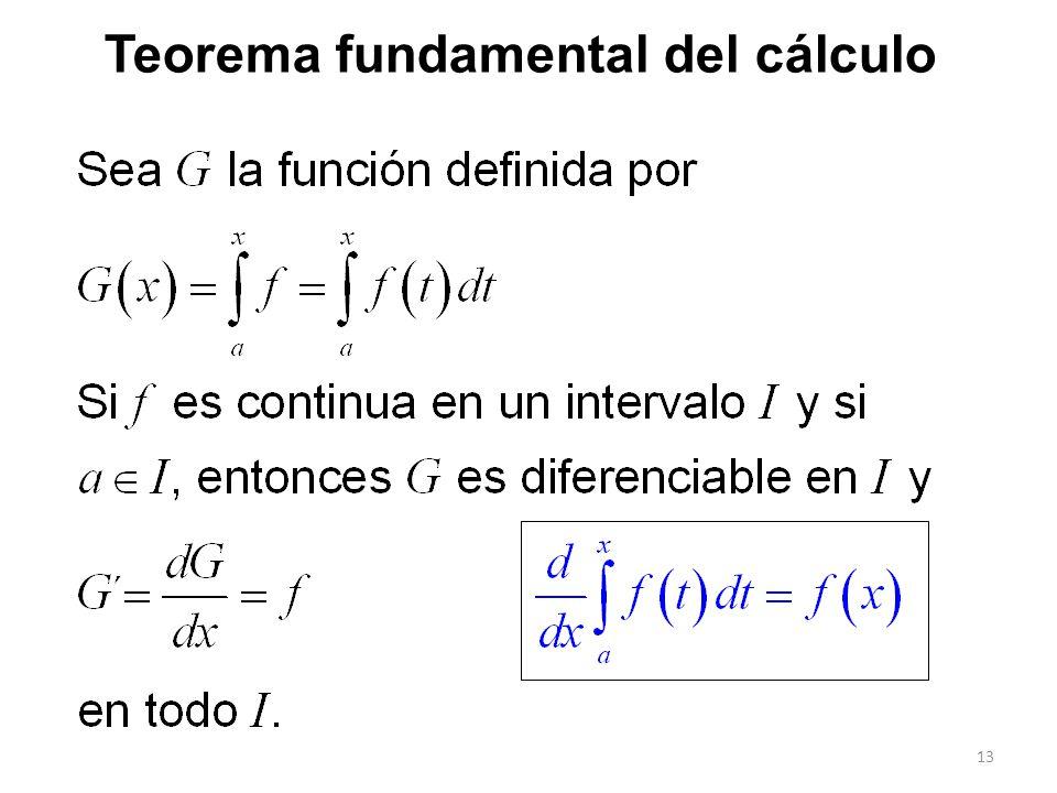 13 Teorema fundamental del cálculo