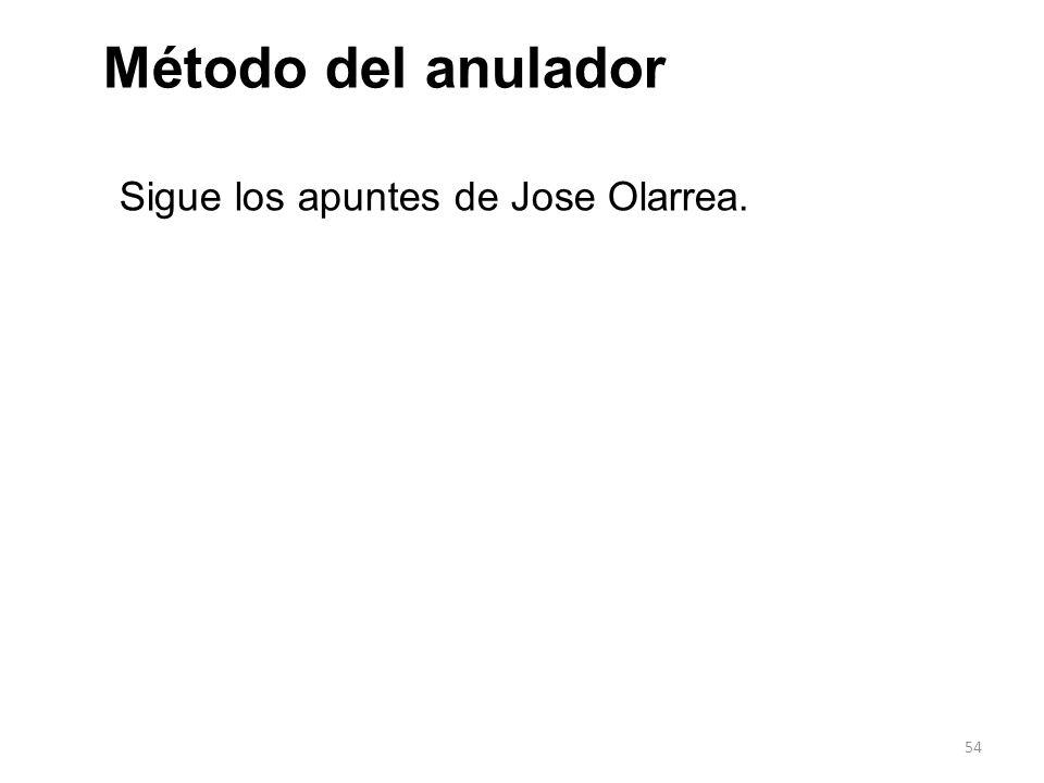 54 Método del anulador Sigue los apuntes de Jose Olarrea.