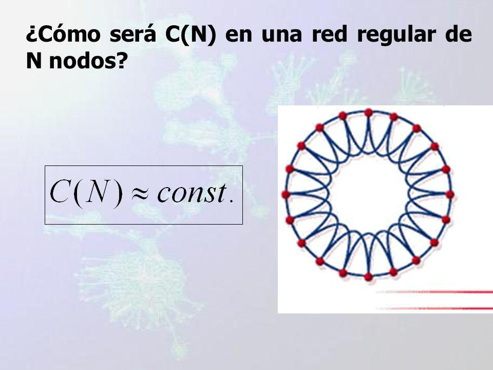 ¿Cómo será C(N) en una red regular de N nodos?