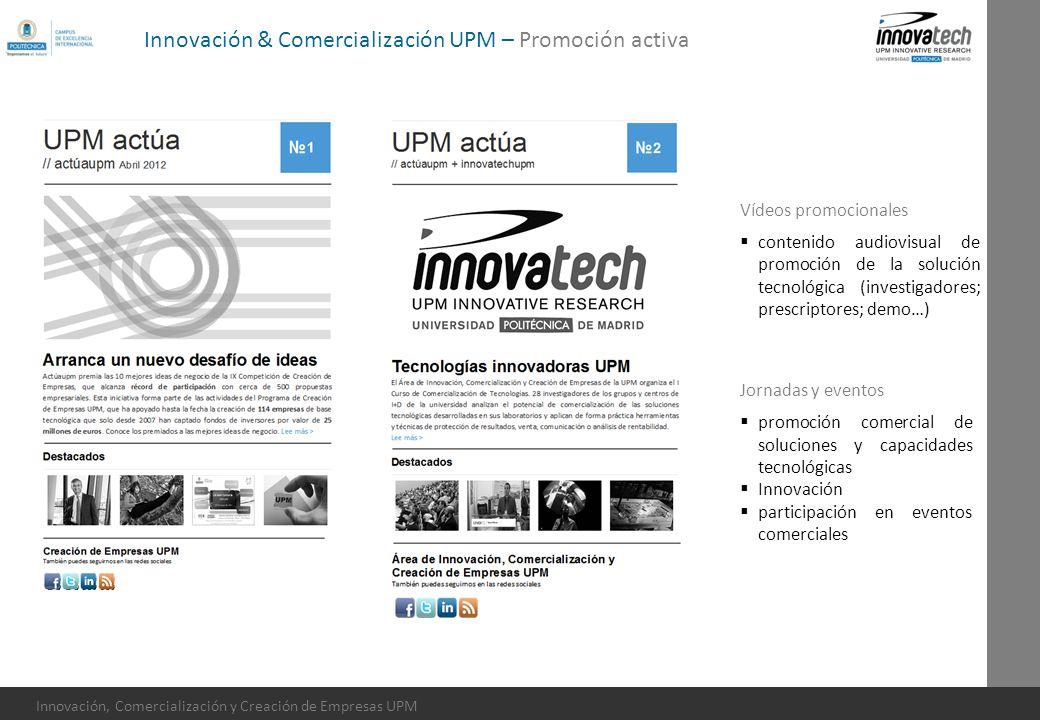 Innovación, Comercialización y Creación de Empresas UPM Jornadas y eventos promoción comercial de soluciones y capacidades tecnológicas Innovación par