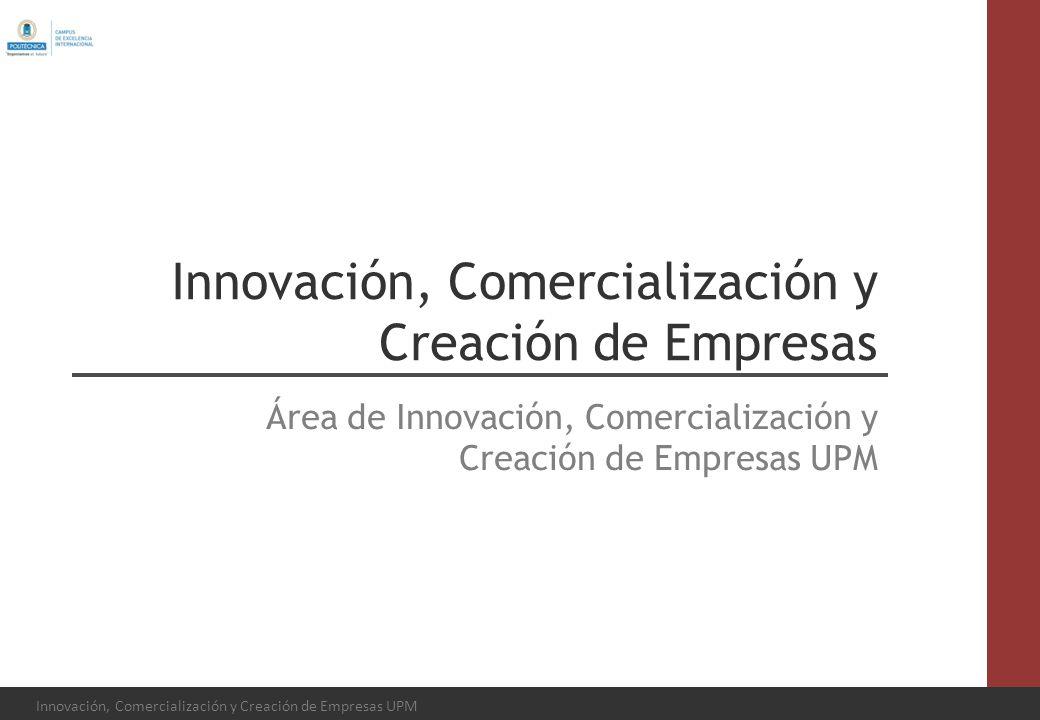 Innovación, Comercialización y Creación de Empresas Área de Innovación, Comercialización y Creación de Empresas UPM