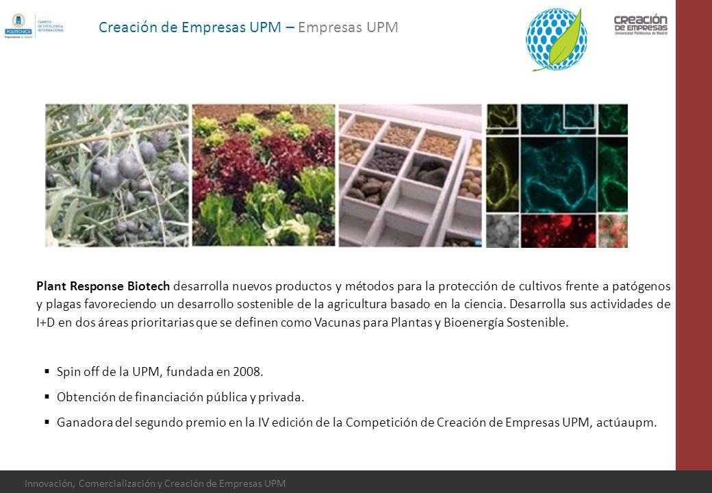 Innovación, Comercialización y Creación de Empresas UPM Plant Response Biotech desarrolla nuevos productos y métodos para la protección de cultivos fr