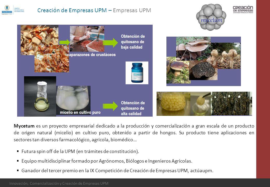 Innovación, Comercialización y Creación de Empresas UPM Mycetum es un proyecto empresarial dedicado a la producción y comercialización a gran escala d