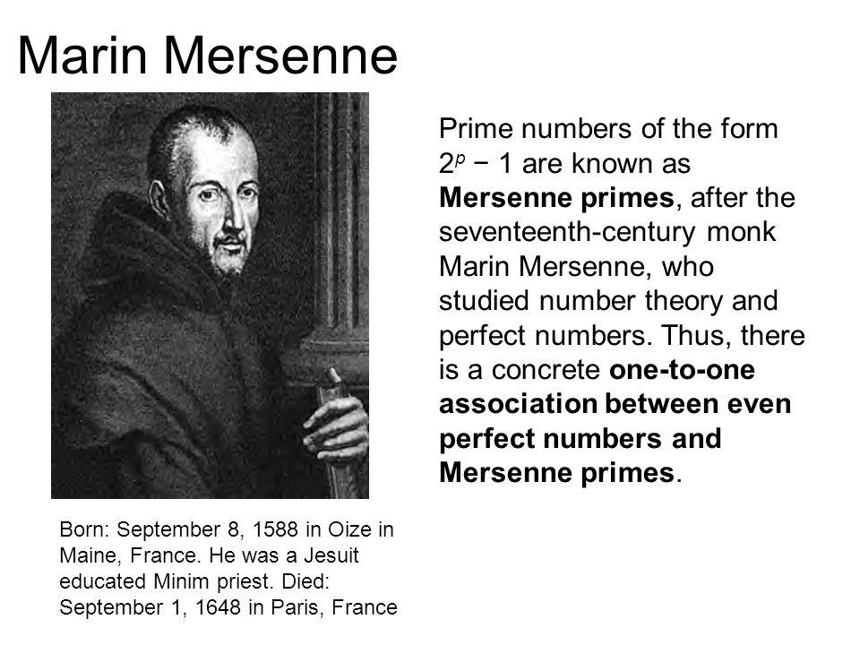 Para que un número de Mersenne sea primo, necesariamente p debe ser primo.