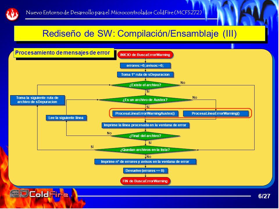 DEMOSTRACIÓN Nuevo Entorno de Desarrollo para el Microcontrolador ColdFire (MCF5272) 27/27...