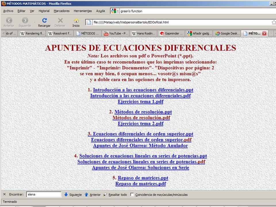 16 Grado El grado de una ecuación diferencial es el grado algebraico de su derivada de mayor orden.