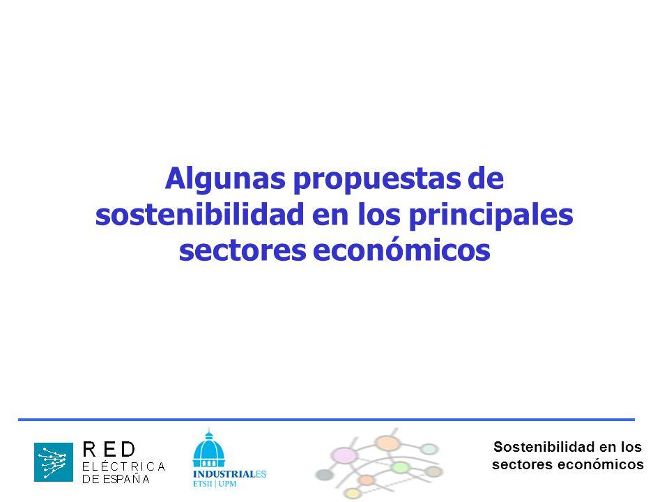 Sostenibilidad en los sectores económicos Algunas propuestas de sostenibilidad en los principales sectores económicos